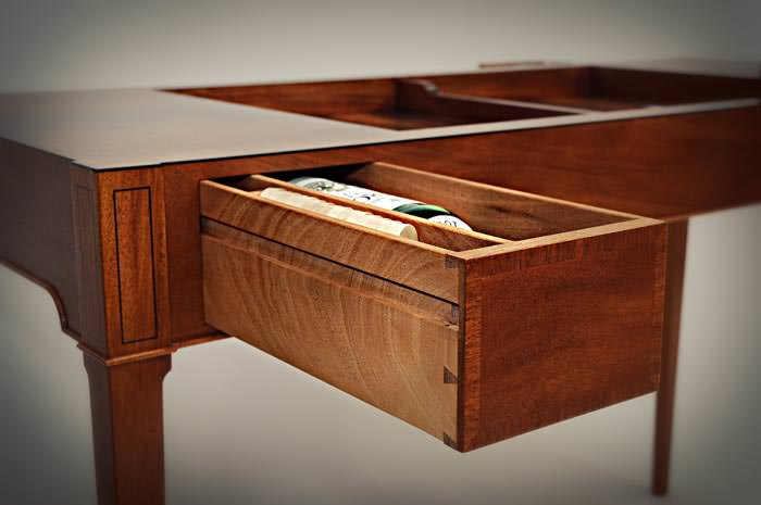 Backgammon Table With Storage Drawer