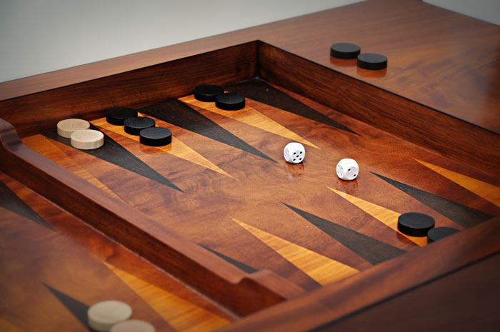 bespoke backgammon table david watson. Black Bedroom Furniture Sets. Home Design Ideas